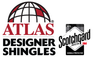 Atlas designer asphalt shingles with Scotchguard roof protector.
