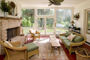 a beautiful screened porch extends your home outside without all the bugs
